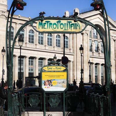 Metropolitain Station in Paris